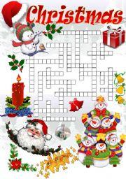 English Worksheet: CHRISTMAS CROSSWORD (Part I)