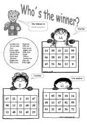 Bingo. Numbers 1-100