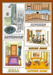 ROOMS IN THE HOUSE (Flash Cards)
