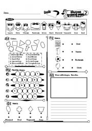 English Worksheets: Vocab Series_02 Shapes (Fully Editable + Key)