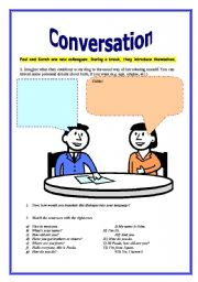English Worksheet: Conversation for adults