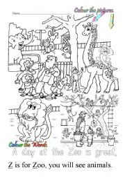 English Worksheets: Z is for Zoo