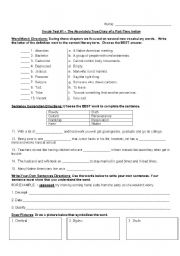 English Worksheets: Vocab Test # 1-13 -