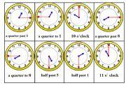 English Worksheet: Telling Time Bingo Game. Card nr. 6/6
