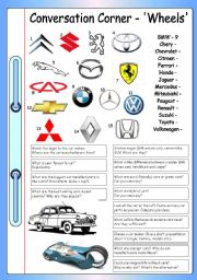 English Worksheet: Conversation Corner - Wheels (Cars)