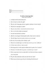 Worksheet To Kill A Mockingbird Worksheet Answers to kill a mockingbird movie worksheet hypeelite english worksheets mocking bird study guide questions