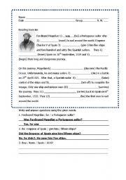 English Worksheets: Ferdinand Magellan
