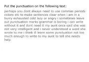 English Worksheets: Punctuation exercise