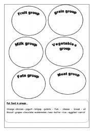 Worksheets Food Groups Worksheets english teaching worksheets food groups groups