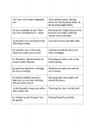 English Worksheets: Participial Clause Activity