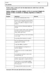 English Worksheets: Film Scarface Pre-watching activity