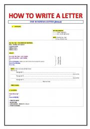 How To Write A Business Letter Esl Worksheet By Bibilolo