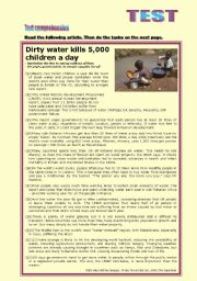 TEST on: Dirty water kills 5,000 children a day (+KEY) reuploaded new version