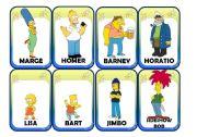 English Worksheet: Simpsons Card Game (1/4)