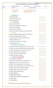 English Worksheet: TEACHING  EVALUATION