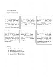English Worksheet: role play script