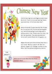 English Worksheet: Chinese New Year - Hard g / Soft g & Hard c / Soft c