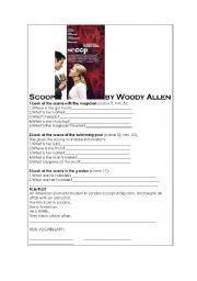 English Worksheets: Scoop - the film