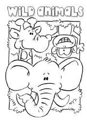 English Worksheet: Wild Animals - Picture Dictionary (1/2)
