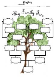 Printables Family Tree Worksheet english teaching worksheets family tree my tree