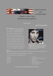 English Worksheets: Bruce Springsteen - The River