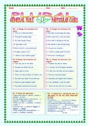 English Worksheets: PLURAL: GENERAL RULE AND PARTICULAR CASES.