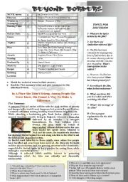 English Worksheet: BEYOND BORDERS (Angelina Jolie & Clive Owen)