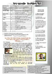 English Worksheets: BEYOND BORDERS (Angelina Jolie & Clive Owen)