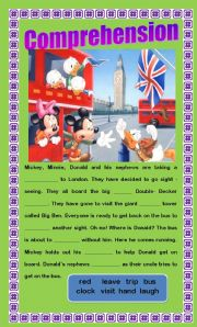 English Worksheets: Comprehension - Going Sightseeing
