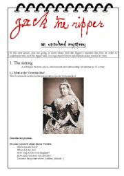 English Worksheets: Jack the ripper, the setting (part 1/3)