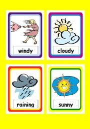 weather flashcards worksheets