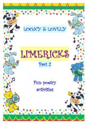 English Worksheet: LIMERICKS, part 2 - synonyms practice through fun poetry
