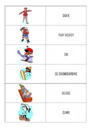 English Worksheets: indoor and outdoor actions