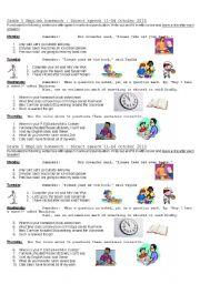 English Worksheet: punctuating direct speech