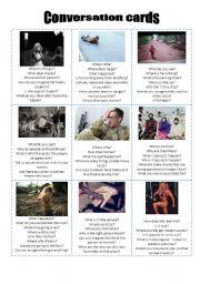 English Worksheet: Conversation cards 06