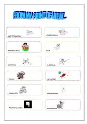 English Worksheets: FROM MY POINT OF VIEW...