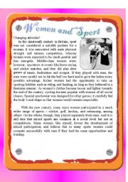 English Worksheet: Reading - Women and Sport