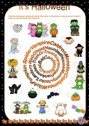 English Worksheets: It�s Halloween