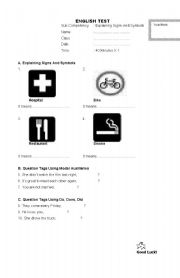 English Worksheet: English test on describing things
