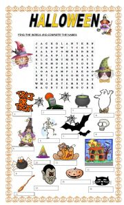 English Worksheets: Halloween search