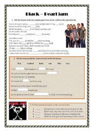 English Worksheets: Black (Pearl Jam) - Song worsheet