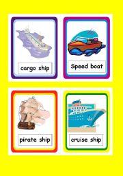 English Worksheet: Transportation Flashcards 1 of 3 (water based transportation)