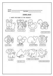 English Worksheets: ANIMAL  SALAD