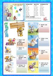 English Worksheets: MODALS - CAN - ABILITY - DIDDL & FRIENDS