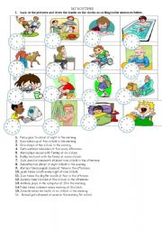 English Worksheets: my routines