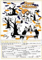 English Worksheet: Halloween Exercises