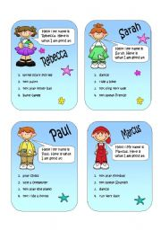 English Worksheet: Speaking cards - can and can´t