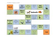 English Worksheets: Animal Gameboard