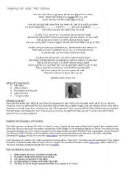 English Worksheets: Phil Collins - Against all odds lyrics
