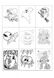 Halloween game (five pages)